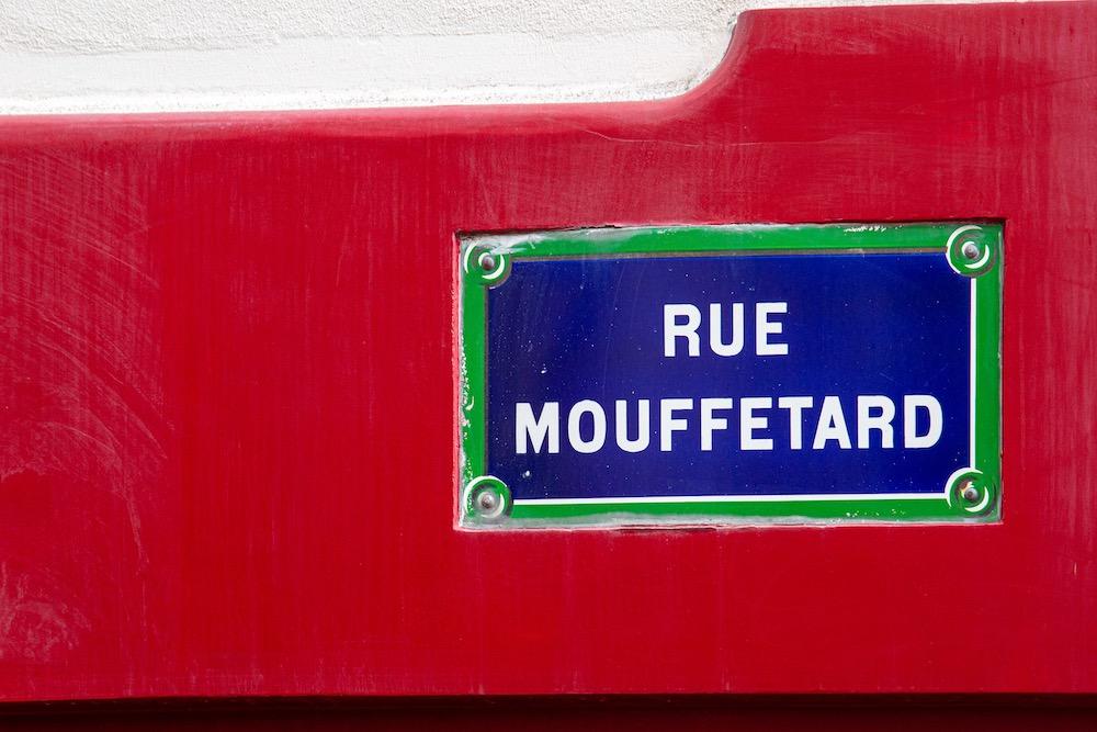 Panneau de la rue mouffetard